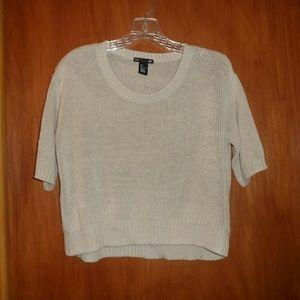H&M - Cropped Cream Sweater